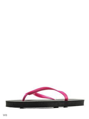 Шлепанцы Modis. Цвет: черный, фиолетовый, розовый