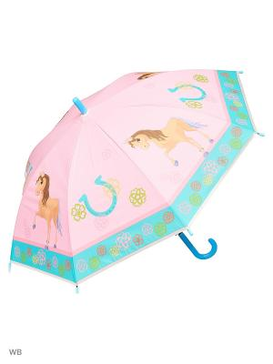 Зонт Modis. Цвет: бледно-розовый, бирюзовый