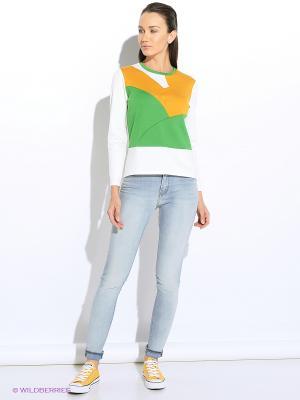 Кофточка Colambetta. Цвет: белый, зеленый, оранжевый