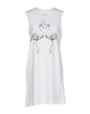 Короткое платье EMPATHIE. Цвет: белый
