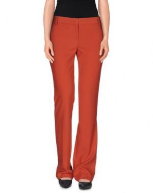 Повседневные брюки PAOLA FRANI. Цвет: коралловый