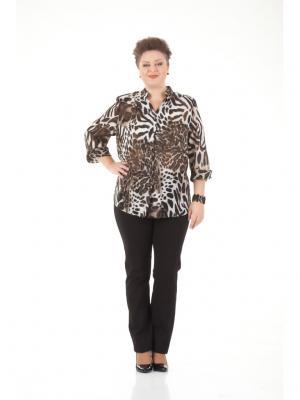 Блуза LUDMILA. Цвет: коричневый