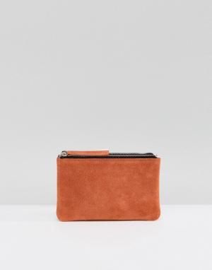 ASOS Кожаный контрастный кошелек с двумя отделениями. Цвет: мульти