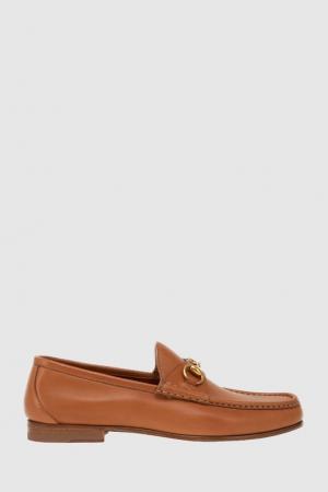 Кожаные лоферы Gucci. Цвет: коричневый
