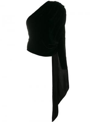 Блузка с асимметричными рукавами Gareth Pugh. Цвет: чёрный