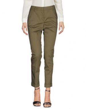 Повседневные брюки CAPPELLINI BY PESERICO. Цвет: зеленый-милитари