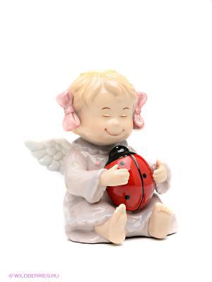 Фигурка Ангелочек Pavone. Цвет: бледно-розовый, красный