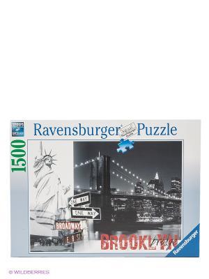 Пазл Бруклинский мост, 1500 элементов Ravensburger. Цвет: черный, белый, серебристый
