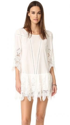 Мини-платье Prairie Suboo. Цвет: белый