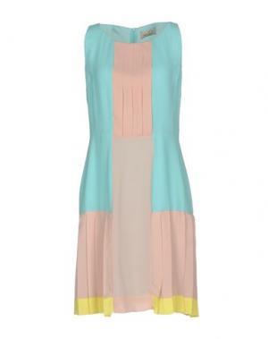 Короткое платье KI6? WHO ARE YOU?. Цвет: лазурный