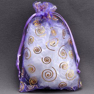 Подарочный мешочек арт. УП-342 Бусики-Колечки. Цвет: сиреневый