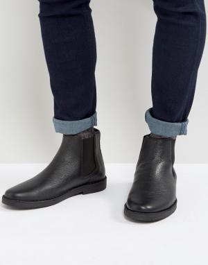 Zign Черные кожаные ботинки челси. Цвет: черный