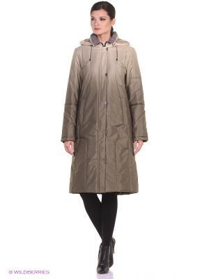 Пальто RIINA Maritta. Цвет: оливковый