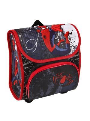 Рюкзачок детский Spider-Man, 3/6 Scooli. Цвет: красный, серый