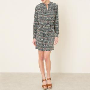 Платье DOLCE SESSUN. Цвет: серый