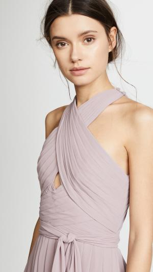 Halter Gown with Cutout Monique Lhuillier Bridesmaids