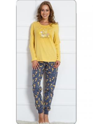 Пижамы Vienetta Secret. Цвет: желтый