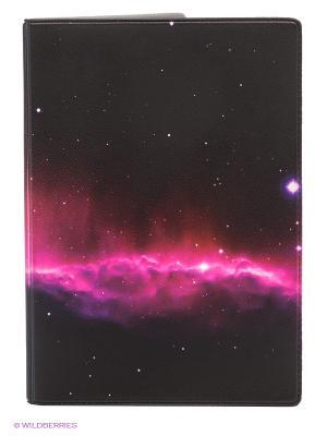 Обложка для паспорта Ночное небо Mitya Veselkov. Цвет: фуксия, черный