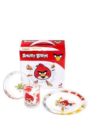 Набор посуды Энгри Бердз - Классик ANGRY BIRDS. Цвет: прозрачный