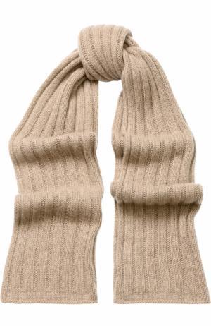 Кашемировый шарф Allude. Цвет: бежевый