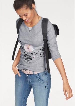 Кофточка с длинными рукавами Kangaroos. Цвет: светло-серый/меланжевый