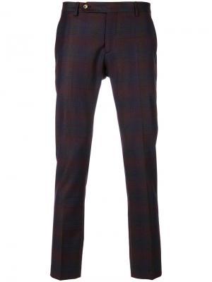 Укороченные брюки с полосатым принтом Entre Amis. Цвет: розовый и фиолетовый