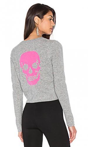 Кашемировый свитер с рисунком череп trova 360 Sweater. Цвет: серый