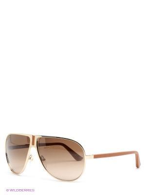 Солнцезащитные очки Salvatore Ferragamo. Цвет: светло-коричневый