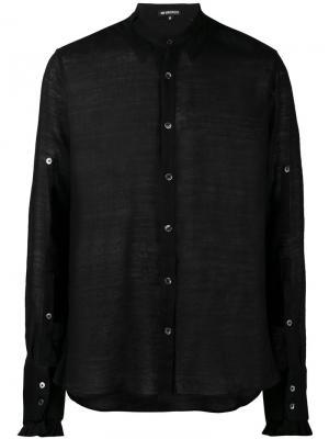 Прозрачная рубашка Ellroy Ann Demeulemeester. Цвет: чёрный