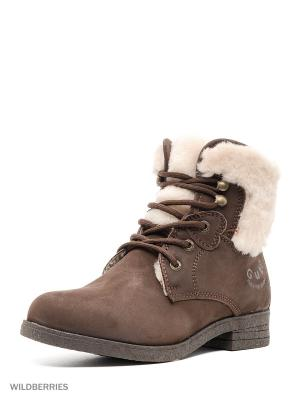 Ботинки GUT. Цвет: темно-коричневый