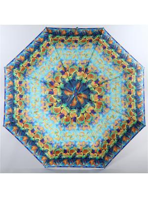 Зонт Trust. Цвет: оранжевый, голубой, желтый