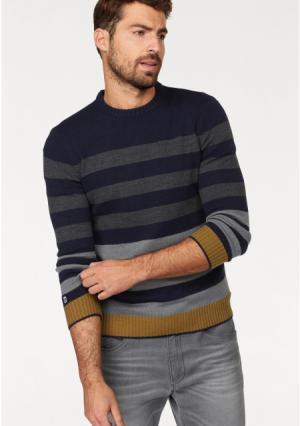 Пуловер Rhode Island. Цвет: темно-синий/серый в полоску