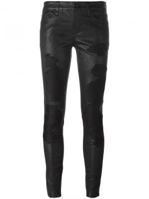 Рваные обтягивающие брюки Rta. Цвет: чёрный