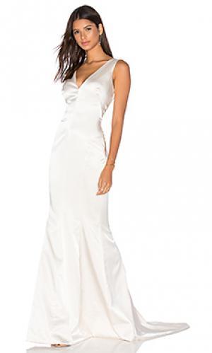 Вечернее платье odette Katie May. Цвет: ivory