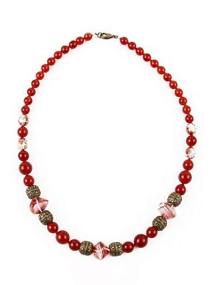 Ожерелье Bohemia Style. Цвет: бордовый