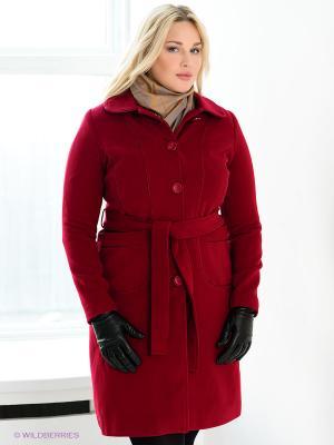 Пальто Gemko plus size. Цвет: красный