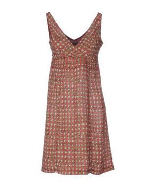 Короткое платье MALÌPARMI. Цвет: красный