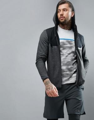 Jack & Jones Спортивная куртка с капюшоном и вставками. Цвет: серый