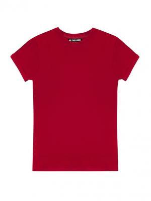 Футболка Eniland. Цвет: красный