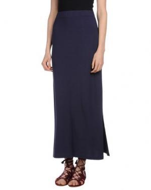 Длинная юбка SHE WISE. Цвет: темно-синий