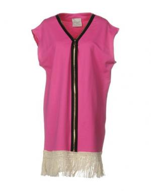 Короткое платье MARIUCCIA. Цвет: фуксия