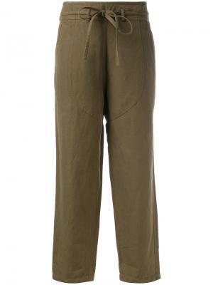 Свободные брюки карго Ulla Johnson. Цвет: зелёный