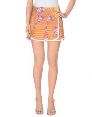 Мини-юбка GSUS SINDUSTRIES. Цвет: светло-фиолетовый