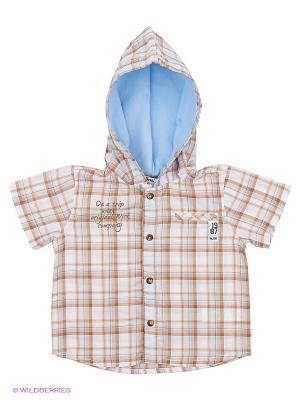Рубашка Wojcik. Цвет: бежевый, голубой