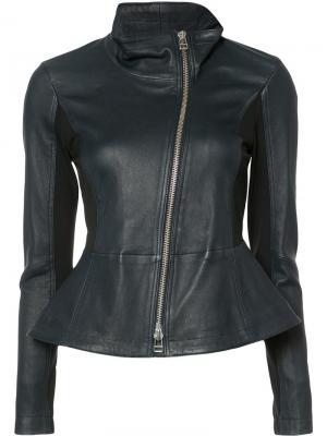 Куртка со смещенной застежкой Veronica Beard. Цвет: чёрный
