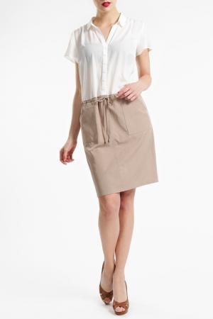 Платье Basler. Цвет: белый и телесный