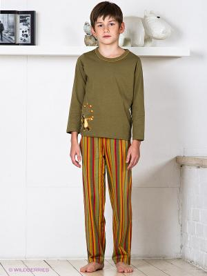 Пижама Lowry. Цвет: оливковый, красный, оранжевый