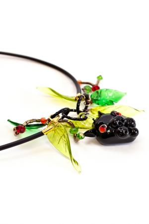 Кулон Divetro. Цвет: черный, зеленый
