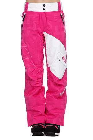 Штаны сноубордические женские  Pulp Pant Pink Picture Organic. Цвет: белый,красный