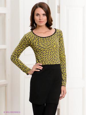 Платье Lavand. Цвет: черный, желтый